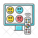 TV Channel Rating Survey Icon