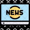 Network Communication Tv News Icon