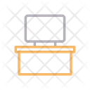 Tv Desk Table Icon