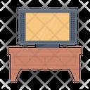 Tv Table Television Desk Icon