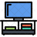 Tv Table Furniture Icon