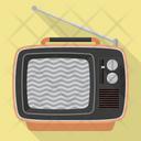 Vintage portable TV Set Icon