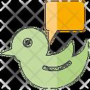 Bird Social Media Message Icon