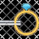 Tweezers Ring Diamond Icon