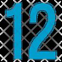 Twelve Numbers Icon