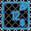 Twelve Dollar Bill Icon