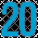 Twenty Numbers Icon