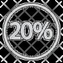 Twenty Discount Icon