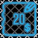 Twenty Dollar Bill Icon
