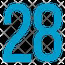 Twenty Eight Numbers Icon