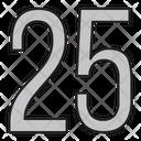 Twenty Five Icon