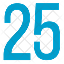 Twenty Five Numbers Icon