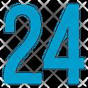 Twenty Four Numbers Icon