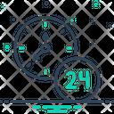 Hour Twenty Four Hours Clock Icon