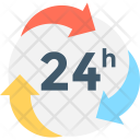 Twenty Four Hours Service Icon