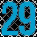 Twenty Nine Numbers Icon