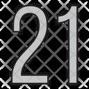 Twenty One Icon