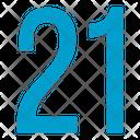 Twenty One Numbers Icon