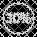 Twenty Percentage Discount Icon