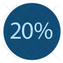 Twenty Percent Discount Offer Icon