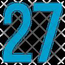 Twenty Seven Numbers Icon
