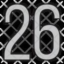 Twenty Six Icon