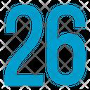 Twenty Six Numbers Icon