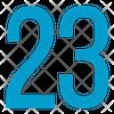 Twenty Three Numbers Icon