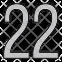 Twenty Two Icon