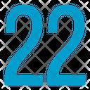 Twenty Two Numbers Icon