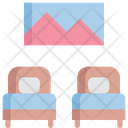 Twin Bed Hotel Icon