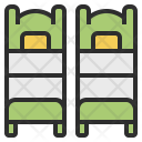 Twin Room Bed Icon