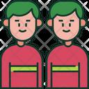 Twins Family Boys Icon