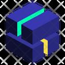 Twist Geometric Cube Icon