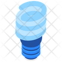 Twisted Fluorescent Lamp Icon