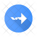 Twisted Arrow Curled Icon