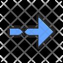 Twisted Blue Arrow Icon