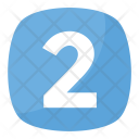 Two 2 Number Icon