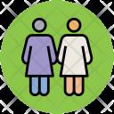 Two Women Girls Icon