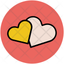 Two Hearts Love Icon