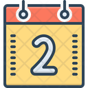 Two Calendar Geometric Icon