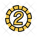 Two Number Numbers Icon