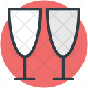 Two Glasses Cheers Icon