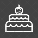 Two Layered Cake Icon