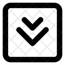 Two Arrow Down Direction Arrow Direction Icon