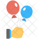 Two Balloons Red Icon