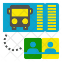 Two Bus Ticket Icon