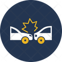 Two Cars Collide Back Collision Accident Icon