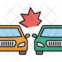 Two Cars Collide Side Collision Accident Icon