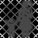 Two Children Family Mom Icon